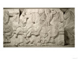 Horsemen with Attendants, from the West Frieze of the Parthenon, 447-432 BC Giclee Print