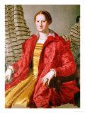 Portrait of Eleonora Da Toledo (1519-74), circa 1550s Giclee Print by Agnolo Bronzino
