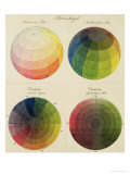 Colour Globes for Copper, Aquatint and Watercolour Giclee Print by Philipp Otto Runge