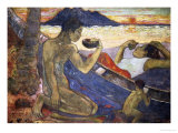 A Canoe (Tahitian Family), 1896 Giclee Print by Paul Gauguin
