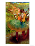 Dancers Wearing Green Skirts, circa 1895 Giclee Print by Edgar Degas