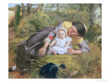 Mother and Child with a Poppy Giclee Print by Frederick Richard Pickersgill