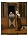 A Conversation in the Street Giclée-Druck von Jacobus Vrel