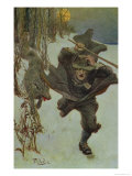 "Once it Chased Doctor Wilkinson into the Very Town Itself, Illustration from ""The Salem Wolf"" Giclee Print by Howard Pyle"