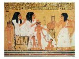 The Dead, Their Family and Their Servants, from the Tomb of Ankerkhe, Workmen's Tombs, New Kingdom Premium Giclee Print