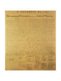 Declaration of Independence of the 13 United States of America of 1776, 1823 (Copper Engraving) Giclee Print