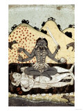 The Goddess Kali Seated in Intercourse with the Double Corpse of Shiva, 19th Century, Punjab Giclee Print