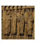 The Visitation, Four Jamb Figures from the West Facade of the Cathedral, circa 1230-40 Premium Giclee Print