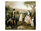 John, the 4th Duke of Atholl and His Family, 1780 Giclee Print by David Allan