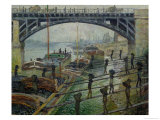 The Coal Workers, 1875 Premium Giclee Print by Claude Monet
