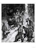 North Carolina, the Political Campaign: Colored Voters from the Interior Journeying Giclee Print
