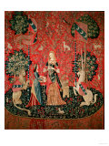 The Lady and the Unicorn: &quot;Smell,&quot; circa 1500 Giclee Print