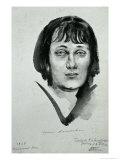 Portrait of Anna Akhmatova (1889-1966), 1927 Giclee Print by Nikolai Adrianovich Tyrsa