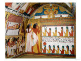 Sennedjem and His Wife Facing a Naos Containing Twelve Divinities Giclee Print
