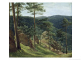 View of Mount Brocken, 1829 Giclee Print by Christian Ernst Bernhard Morgenstern