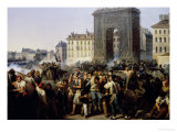 Battle at the Porte Saint-Denis, 28th July 1830 Giclee Print by Hippolyte Lecomte