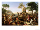 Troops Halted on the Banks of the Nile, 2nd February 1799, 1812 Giclee Print by Jean-Charles Tardieu