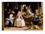 Las Meninas, Detail of the Lower Half of the Family of Philip IV (1605-65) of Spain, 1656 Giclee Print by Diego Velázquez