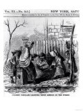 "Colored Scholars Learning Their Lessons on the Street, from ""Harper's Weekly,"" 1867 Giclee Print"