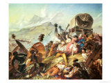 The Battle of Blauwkrantz, 1838 Giclee Print by Thomas Baines