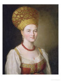 Peasant Woman in Russian Costume, 1784 Giclee Print by Ivan Petrovich Argunov