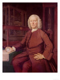 Portrait of John Harrison (1693-1776) Premium Giclee Print by T. King