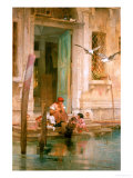 By the Canal, Venice Giclee Print by Marcus Stone