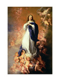 Immaculate Conception of the Escorial, circa 1678 Reproduction procédé giclée par Bartolome Esteban Murillo