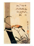 Bird and Bamboo, circa 1830 Giclee Print by Ando Hiroshige