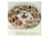 Indian Village of Pomeiooc Giclee Print by John White