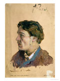 Portrait of Anton Chekhov (1860-1904) Giclee Print by Isaak Ilyich Levitan