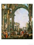 Classical Ruins Reproduction procédé giclée par Giovanni Paolo Pannini