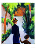 Mother and Child in the Park, 1914 Giclee Print by Auguste Macke