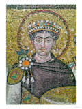 Emperor Justinian I (483-565) circa 547 AD Lmina gicle
