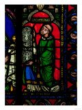 The Tree of Jesse Window, Detail Depicting Abbot Suger (circa 1081-1151) Giving a Window Lmina gicle