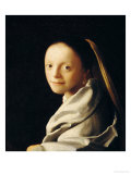 Portrait of a Young Woman, circa 1663-65 Giclee Print by Jan Vermeer
