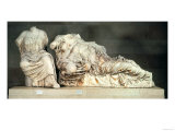 Three Seated Figures from the East Pediment of the Parthenon, Possibly Hestia Giclee Print