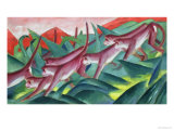 Monkey Frieze, 1911 Premium Giclee Print by Franz Marc