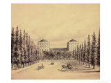 United States Capitol from Pennsylvania Avenue, circa 1814 Giclee Print by Benjamin Henry Latrobe