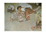 The Alexander Mosaic, Detail of Alexander the Great (356-323 BC) at the Battle of Issus Premium Giclee Print