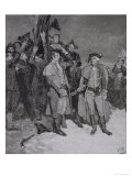 Surrender of Fort William and Mary, from Harper's Magazine, 1886 Giclee Print by Howard Pyle