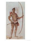 Indian Man of Florida Giclee Print by John White