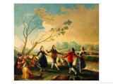 Dance on the Banks of the River Manzanares, 1777 Giclee Print by Francisco de Goya