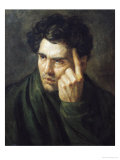 Portrait of Lord Byron (1788-1824) Premium Giclee Print by Théodore Géricault