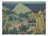 Nudes in Dunes, circa 1919-20 Giclée-Premiumdruck von Otto Mueller