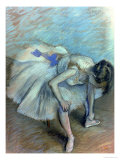 Seated Dancer, circa 1881-83 Premium Giclee Print by Edgar Degas