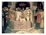 The Christening of Grand Duke Vladimir (circa 956-1015), 1885-96 (Mural) Giclée-Druck von Victor Mikhailovich Vasnetsov