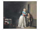 The Visit Received, 1789 Giclee Print by Louis Leopold Boilly