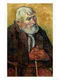 Portrait of an Old Man with a Stick, 1889-90 Giclee Print by Paul Gauguin