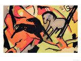 Two Horses, 1911/12 Giclée-Premiumdruck von Franz Marc